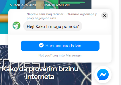 facebook messenger napravi.rs