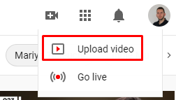 upload video opcija na youtube-u
